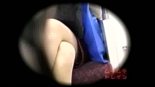 列車で対面に座っってるオネエさんを収録☆☆